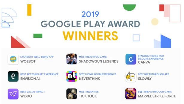Google Play Awards 2019 лучшие Android-приложения