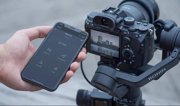 DJI Ronin-SC подключение к смартфону