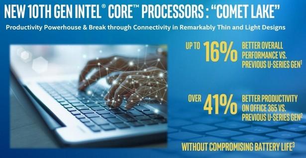 приросты Intel Comet Lake
