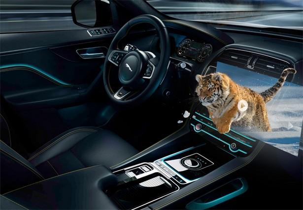 Jaguar Land Rover 3d display vr
