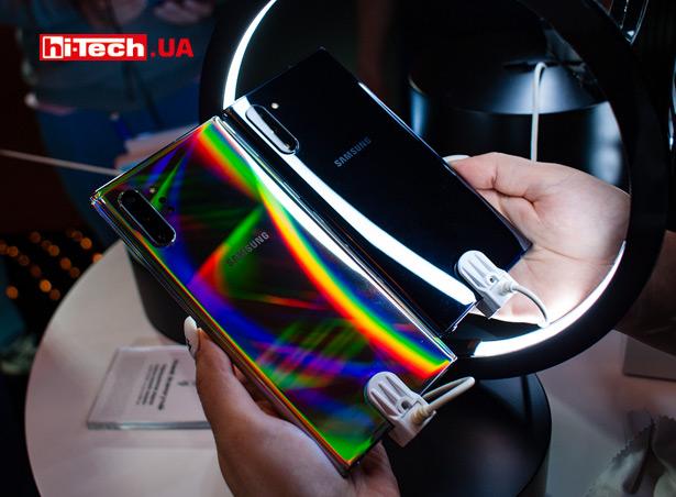 нение размеров Samsung Galaxy Note10 и Note10+