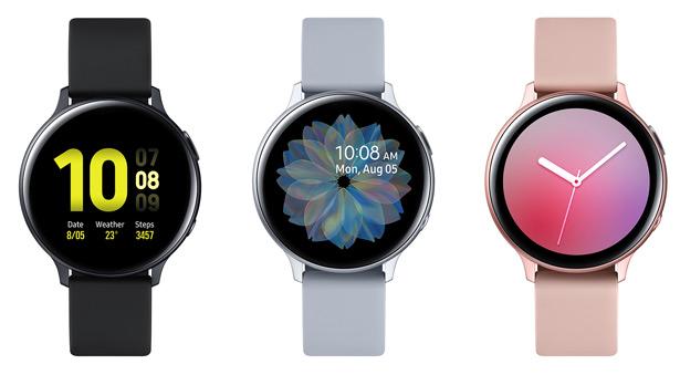 Алюминиевые часы Samsung Galaxy Watch Active2 с пластиковым (фторэластомер FKM) ремешком