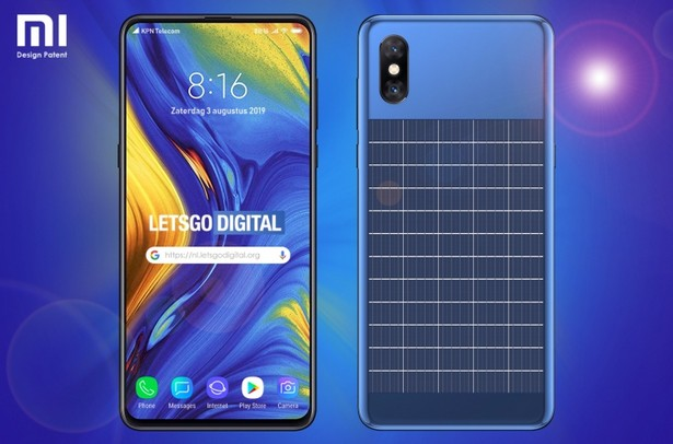 Xiaomi solar panel smartphone