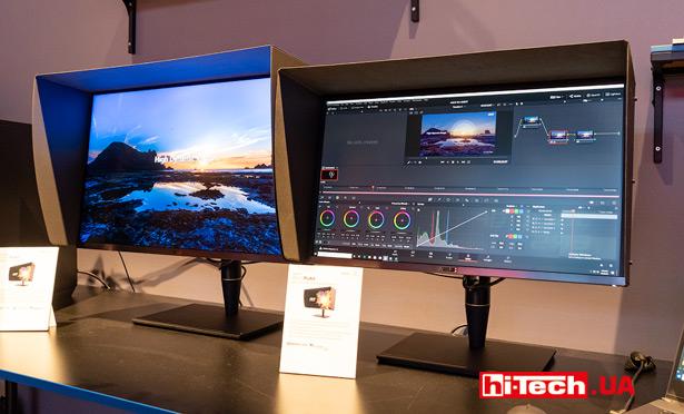 32-дюймовый монитор ASUS ProArt PA32UCX (слева) и 27-дюймовый ASUS ProArt PA27UCX