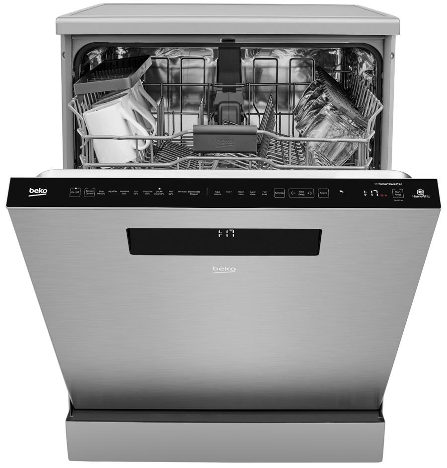 Посудомоечная машина Beko с поддержкой системы умного дома HomeWhiz (логотив справа)
