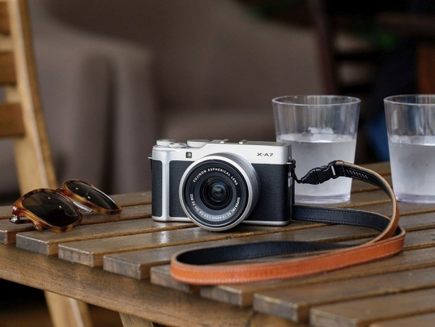 Fujifilm X-A7 on a table