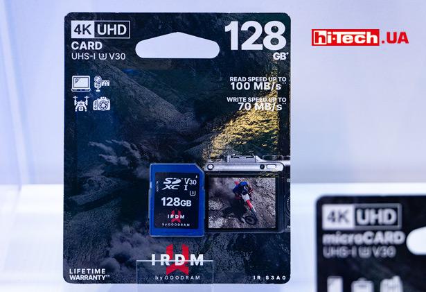 Карта памяти GOODRAM IRDM UHS-I U3 V30 в формате microSD