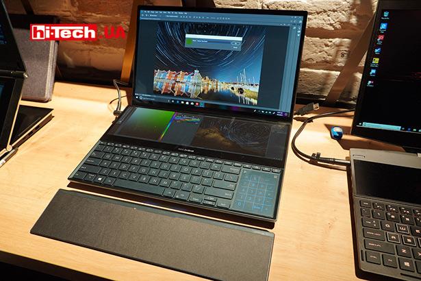 Ноутбук с двумя экранами ASUS