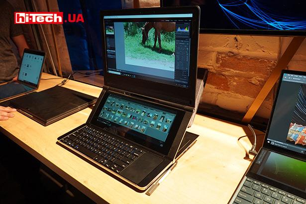Ноутбук с двумя экранами