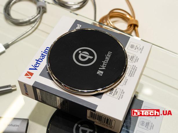Беспроводная зарядка Verbatim Wireless Charging Pad с металлическим корпусом