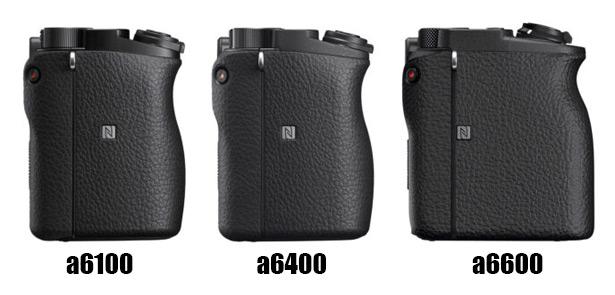 Размеры Sony a6100, a6400 и a6600