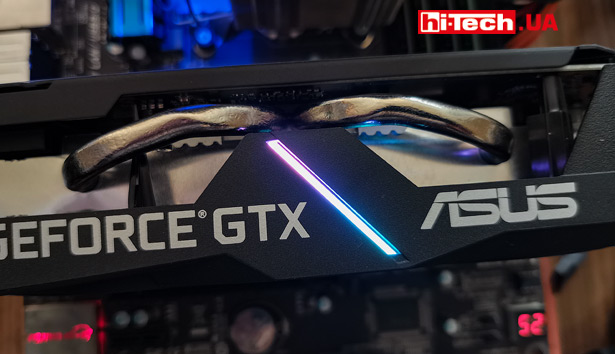 Подсветка ASUS Dual GeForce GTX 1660 SUPER EVO OC