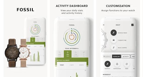 Фирменное приложение Fossil Smartwatches
