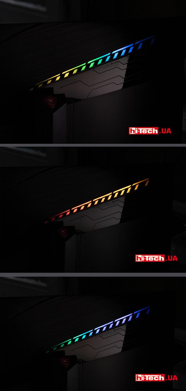 Декоративная подсветка монитора MSI Opitx MAG271CQR
