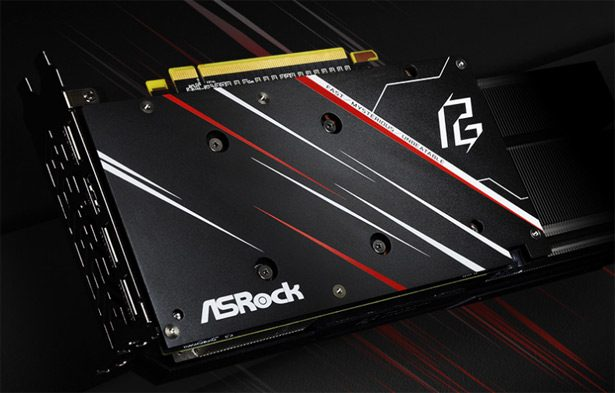 я задняя пластина ASRock Radeon RX 5600 XT