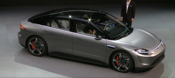 sony ces 2020 electric car