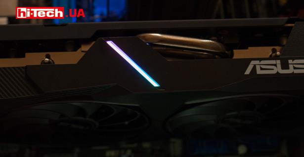 Светящийся элемент ASUS Dual Radeon RX 5500 XT EVO