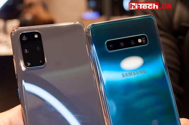 Сравнение Samsung Galaxy S20 Ultra с Galaxy S10+