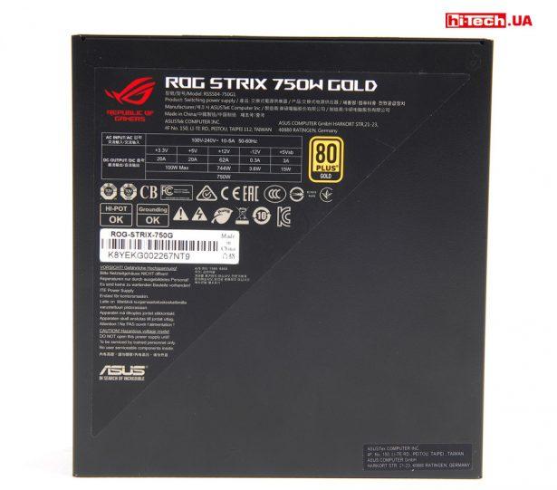 Характеристики ASUS ROG-STRIX-750G