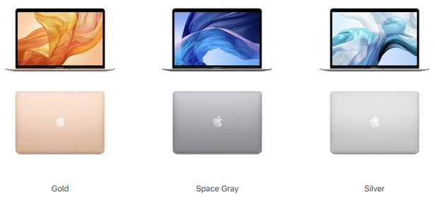 Цвета Apple MacBook Air 2020
