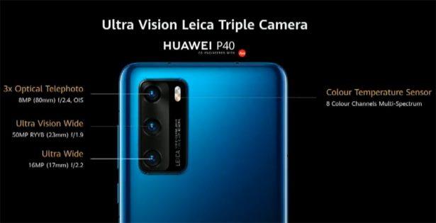 Характеристики камер Huawei P40