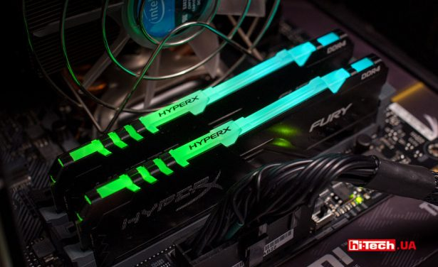 Подсветка Kingston HyperX FURY DDR4 RGB