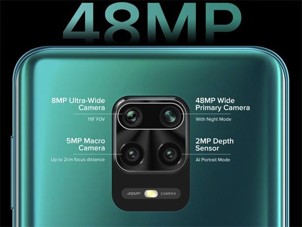Конфигурация камер Redmi Note 9 Pro на задней панели