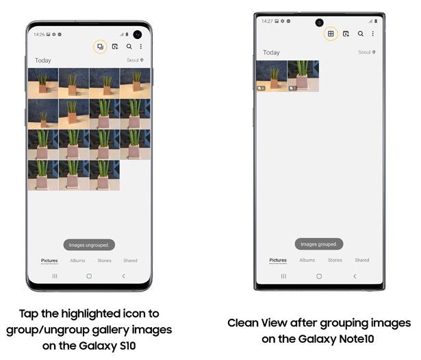 Функции Samsung Galaxy S20 добавляют в Galaxy S10 и Galaxy Note10