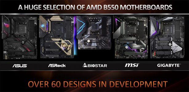 Материнские платы AMD B550