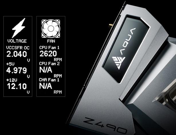 OLED-дисплей ASRock Z490 AQUA