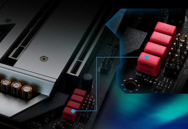 WIMA-конденсаторы ASRock Z490 AQUA