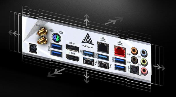 Панель разъемов ASRock Z490 AQUA