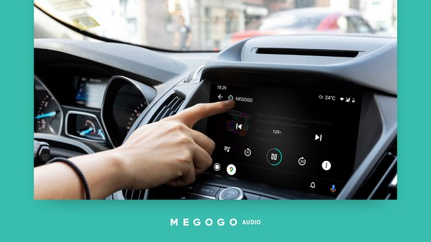MEGOGO Audio на Android Auto