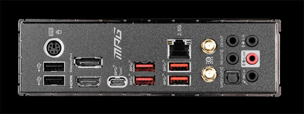Панель разъемов MSI MPG Z490 CARBON EK X