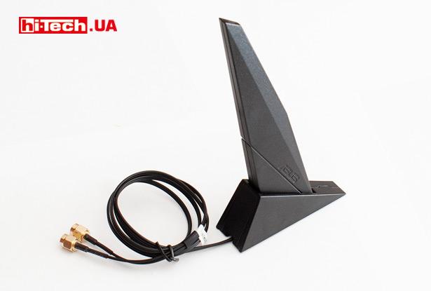 В комплекте с ASUS TUF Gaming B550M-Plus (Wi-Fi) поставляется выносная Wi-Fi-антенна