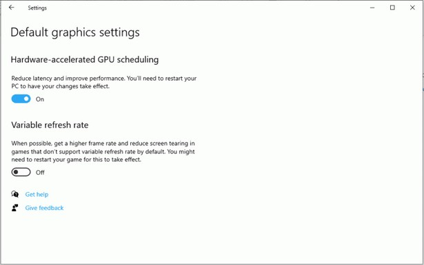 Hardware Accelerated GPU Scheduling