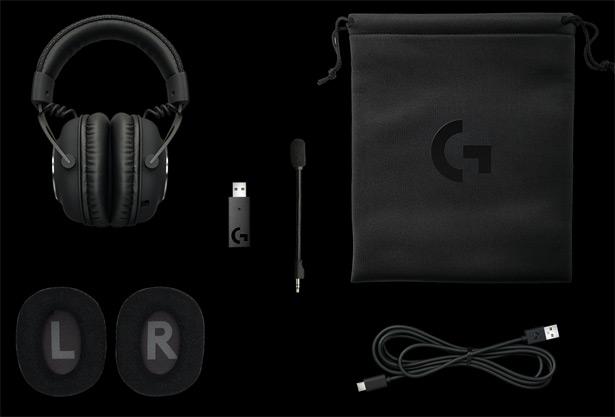 Комплект поставки Logitech G PRO X LIGHTSPEED Wireless Gaming Headset