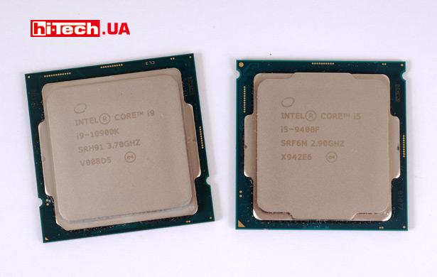 Процессоры Intel Core i9-10900K и Core i5-9400F