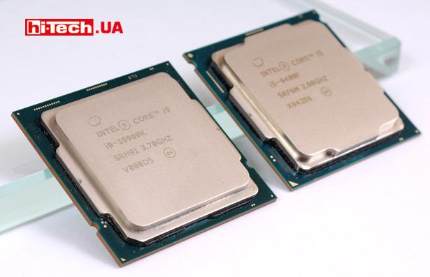 Процессоры Intel Core i9-10900K и i5-9400F
