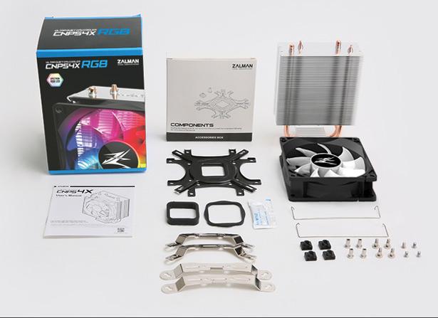 Комплект поставки Размеры Zalman CNPS4X RGB