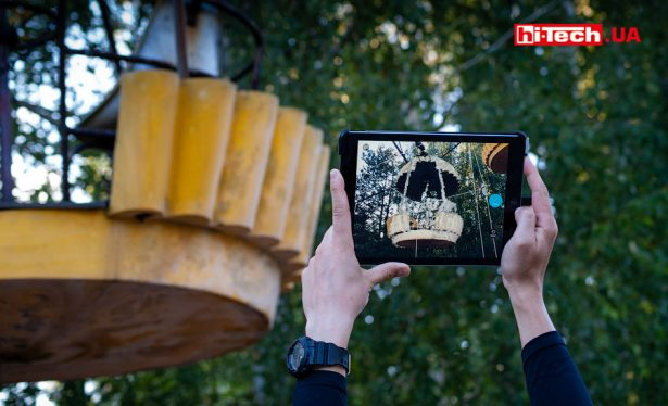 Сканирование кабины колеса обозрения, используя все тот же набор из Occipital Structure Sensor и планшета iPad