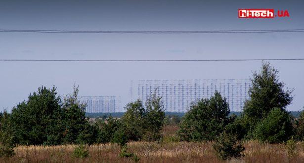 Вид на радиолокационную станцию Дуга с расстояния более 10 км