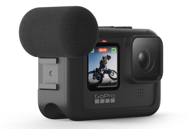 HERO9 Black с установленным аксессуаром Camera Media Mod
