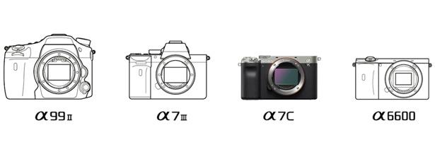 Сравнение размеров Sony a7C