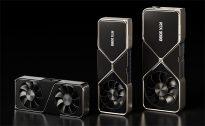 NVIDIA GeForce RTX 3070 (слева), RTX 3080 и RTX 3090