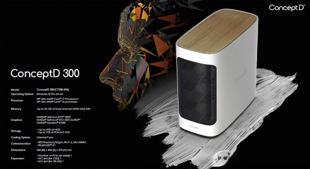 Характеристики Acer ConceptD 300
