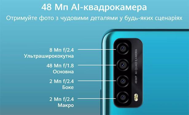 Камеры Huawei P smart 2021