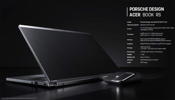 Основные характеристики Porsche Design Acer Book RS