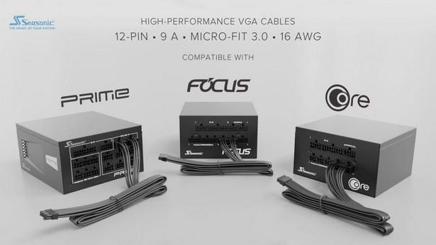 Seasonic 12-Pin, 9 A Terminals, Micro-Fit 3.0, 16 AWG VGA