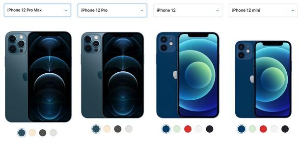 iphone 12 lineup